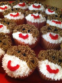 Sock monkey cupcakes made just for T