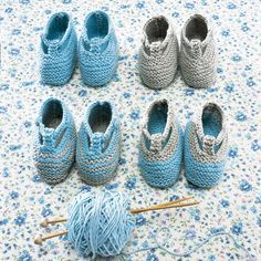 Des chaussons en tricot pour bébé num 53