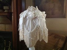 Victorian Lampshade Shabby Cottage Chic by ShadyLadyCreationsCo