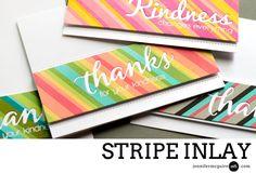 Stripe Inlay by Jennifer McGuire Ink