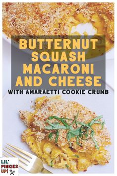 My roasted butternut squash macaroni and cheese with amaretti cookie crumb-topping is sophisticated enough to serve for an adult-centric dinner party, yet familiar enough for kids of all ages. Adding Amaretti cookies to the buttery crumb-topping gives an unusual twist to traditional baked macaroni and cheese, and is the perfect complement to the natural sweetness of the roasted butternut squash. #lilpinkiesup #pickytopersuadablemethod #roastedbutternutsquash #macandcheese… Picky Toddler Meals, Healthy Meals For Kids, Kids Meals, Healthy Recipes, Delicious Recipes, Vegetarian Side Dishes, Tasty Dishes, Food Dishes, Kid Friendly Dinner