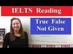 IELTS Reading Tips: True False Not Given - YouTube