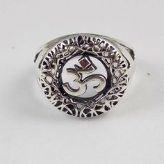 1 Pcs Lovely Om Style Design Ring 925 Sterling Silver High Polished Nice Ring #RAAGARW