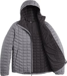 Thumbnail of The North Face ThermoBall Insulated Hoodie - Men s Lining view  (Monument Grey Matte ffcf6a991