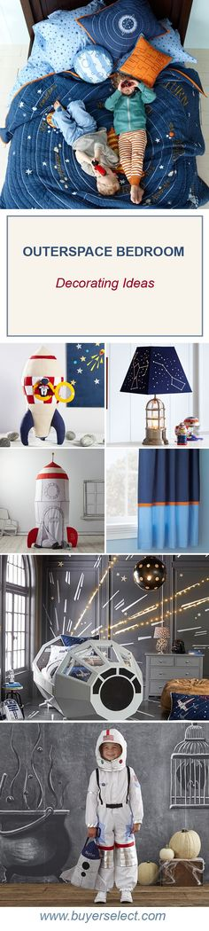 Outer Space Bedroom | Boys Rooms | Solar System, Planet & Rocket Bedding