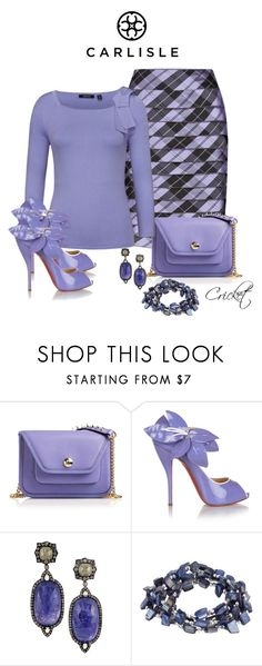 """Untitled #257"" by cricket5643000 ❤ liked on Polyvore featuring Per Se, Henri Bendel, Christian Louboutin and VIcenza"