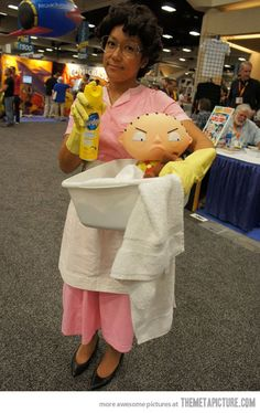 No, no … I stay.  Great cosplay.