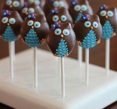 Owl cake pops!