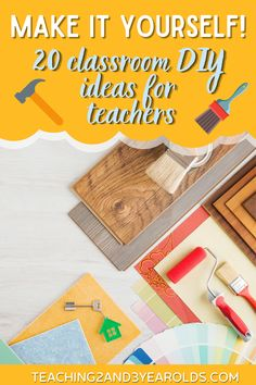 Trying to stay within budget? These classroom DIY ideas will fill your classroom with furniture, decorations, and accessories! #DIY #classroom #preschool #teachers #ideas #furniture #accessories #teaching2and3yearolds Reggio Classroom, Classroom Layout, Classroom Bulletin Boards, Classroom Setting, Classroom Design, Classroom Organization, Classroom Management, New Teachers, Preschool Teachers