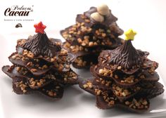 Árvore de Natal de chocolate Chocolate, Stuffed Mushrooms, Vegetables, Food, Stuff Mushrooms, Essen, Chocolates, Vegetable Recipes, Meals