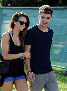Liam and Danielle at the V festival