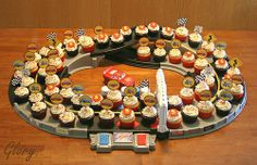 Racecar birthday cupcakes