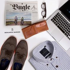 Sweet, it's finally the end of week! Time to roll up your sleeves and catch up on some good reads or update the wardrobe! Come on down as we just restocked our stores with new threads! #benjaminbarkerstore #benjaminbarker #productstyling #flatlay #menswear #dapper #GQ #esquire #sartorial