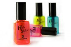 Highlighters shaped like nail polish bottles.  Perhaps one of the stupidest things on the planet but let's face it....I kind of need these.  $8 for 4 @ the NeatoShop.