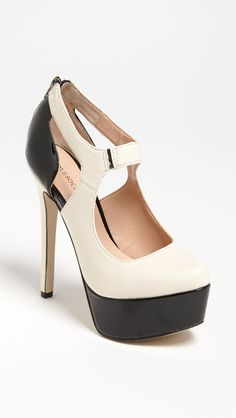 Too cute!! Sole society black and cream pumps.....A little tall but doable!!