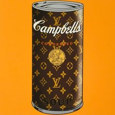 LV x Campbell's condensed pop soup can, 2017 Giclee Print 19 x 19 inches Mr Clever, Vintage Louis Vuitton, Vintage Ads, Hypebeast, Whiskey Bottle, Giclee Print, Pop Art, Soup, Chanel