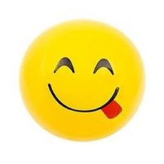 3pcs Happy Smiley Face Bouncy Balls Party Gift Toys Game Yellow N3