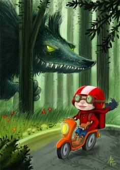 Πινελιές ο κόσμος ... Και ο λύκος κυνηγάει Κοκκινοσκουφίτσα: εικόνες / ... Y el Lobo Κοκκινοσκουφίτσα στο persigue: εικόνες / ... Και ο λύκος Κυνηγώντας Κοκκινοσκουφίτσα: Το έργο τέχνης (31)