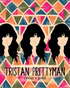 Tour poster design for Tristan Prettyman on CreativeAllies.com