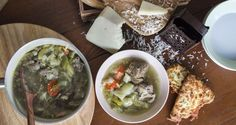 Beef Soup by greek chef Akis. Lovely and delicious recipe for beef and vegetables soup full of proteins and carbohydrates. Beef Recipes, Soup Recipes, Meat Lovers, Palak Paneer, Yummy Food, Vegetables, Cooking, Ethnic Recipes, Soups