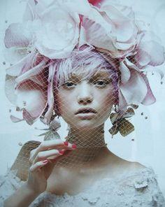 dried flowers crown fashion portrait - Google Search