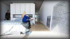 Ricardo Loft Interior, Bedroom a+e visualisations