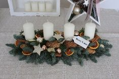 Christmas Advent Wreath, Christmas Crafts, Christmas Decorations, Table Decorations, Winter Fun, Winter Christmas, Merry Christmas, Xmas, Theme Noel