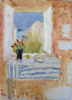 """Inside Outside"" St Ives School of Painting Art Courses, Mumford, Still Life Art, Alice, Painting Inspiration, Amazing Art, Watercolor Art, Folk Art, Art Projects"