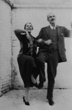 Lord John Maynard Keynes, the great British economist, dancing with his wife, the ballet dancer Lydia Lopokova.