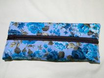 Japanese Printed Pencil Case- Blue Floral