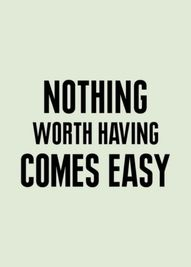 If it was easy everybody would be doing it.