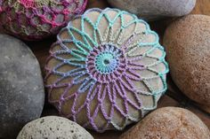 crocheted stone
