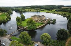 A picturesque and scenic setting is provided by The Waterton Park Hotel & Spa in Wakefield which sits atop its own island Park Hotel, Hotel Spa, Walton Hall, Waterton Park, Georgian Mansion, Hotel Wedding Venues, Spa Packages, Wakefield, West Yorkshire