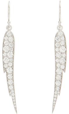 Finn Pave Diamond Small Angel Wing Earrings