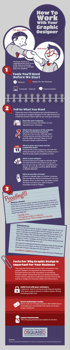 How to work with your #graphicdesigner #Infographic @Erika Davis Media #dsquaredmedia http://www.dsquaredmedia.net
