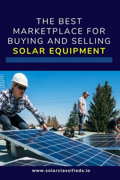 Buying and selling solar equipment can be tough and end up costing you more money than it should. Sellers want to use cost-effective sources to demonstrate how awesome the items are they are offering. Potential owners want to find the local sources for the specific type of equipment they really want. Solar Classifieds brings the best features to buyers and sellers in one site. #Solarpanel #solarpanelenergy #solarpower #solarpowerhouse #solarenergyprojects #solarsystemprojects Solar Energy For Home, Solar Energy Panels, Solar Panels For Home, Solar System Projects, Solar Energy Projects, Backyard Solar Lights, Solar Equipment, Future Energy, Solar House
