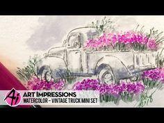 Ai Watercolor - Vintage Truck Mini Set - YouTube