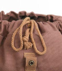 coffee Vintage canvas knapsack