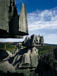 Vue atypique qu'il est possible d'admirer dans le parc Tsingy.