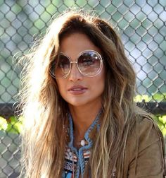 Jennifer Lopez, Chloe, Black Eyed Peas, Glasses For Your Face Shape, Coachella Festival, Festival Style, Rose Colored Glasses, Retro Pop, African Fashion Dresses
