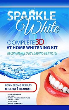 SparkleWhite® Professional Teeth Whitening 3D Whitening At Home Complete System - Professional Results Guaranteed! //Price: $ & FREE Shipping // #hair #curles #style #haircare #shampoo #makeup #elixir