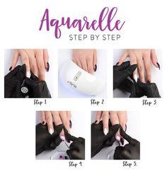 Lakier Hybrydowy 6 ml - Violet Aquarelle 2 Step, Nail Art, Nails, Gold, Finger Nails, Ongles, Nail Arts, Nail, Sns Nails