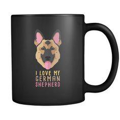Dog Lover Cofee cup - I love my German Shepherd