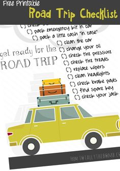 I love driving for hours, no goal in mind other than my ultimate destination at the end of the week. So, I made a Free Printable Road Trip Checklist! #DareToCompare #ad