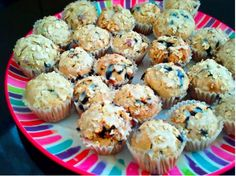 Mini Oatmeal Blueberry Muffins-- by Undressed Skeleton on Tumblr.     Calories 78 Protein 5 Carbs 17 Fat 1g  Ingredients  1 1/4 cups quick cooking oats  1 cup all-purpose flour  1/3 cup white sugar  1 tablespoon baking powder  1/2 teaspoon salt  1 cup milk  1 egg  1/4 cup vegetable oil  1 cup blueberries, rinsed and drained    Bake at 425 degrees F (220 degrees C) for 20 to 25 minutes.    http://undressedskeleton.tumblr.com/betterbreakfast