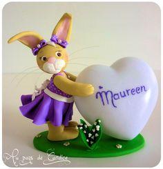 Veilleuse cœur lapine muguet