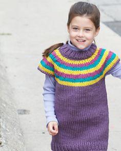 Ravelry: Striped Yoke Pullover (child) free pattern by Bernat Design Studio