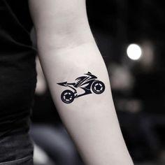 Motorcycle Chopper Dirt Bike Temporary Tattoo Sticker (Set of Motorrad Tattoo Aufkleber Set) Dirt Bike Tattoo, Motocross Tattoo, Bike Tattoos, Motorcycle Tattoos, Sleeve Tattoos, Tatoos, Tatouage Dirt Bike, Moto Chopper, Small Tattoos