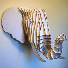Projekty do wypr bowania on pinterest paper mache deer heads and cardboard deer heads - Trophy olifant kartonnen ...