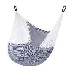 Bring casual relaxation to the backyard with the incredible comfort of the Key West Hanging Chair. With a loose-knit, breezy weave that's perfect for summer days, this hanging chair stretches to six fe...  Find the Key West Hanging Chair, as seen in the Bohemian Sanctuary Collection at http://dotandbo.com/collections/bohemian-sanctuary?utm_source=pinterest&utm_medium=organic&db_sku=110614